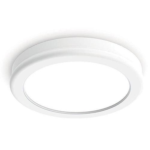 Geos White 6-Inch LED Flush Mount with 3000K Soft White