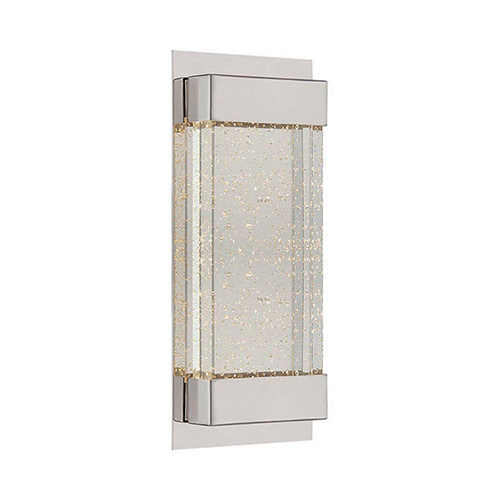 Mythical Polished Nickel 13-Inch LED Wall Sconce with Thick Solid Crystal