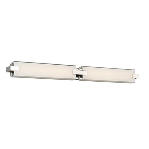 dweLED Bliss Polished Nickel 36-Inch LED Bath Light