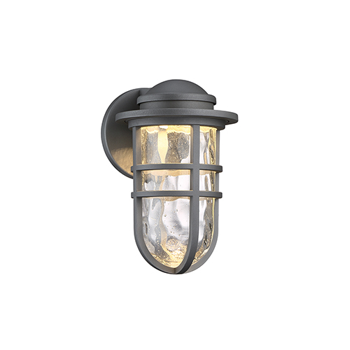 dweLED Steampunk Graphite One-Light LED Outdoor Wall Sconce