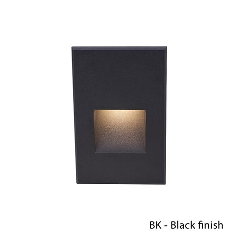 Black LED Vertical Scoop Step Light