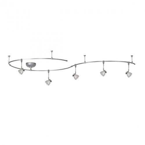WAC Lighting Brushed Nickel Five Light 8-Inch Solorail Fixture Kit