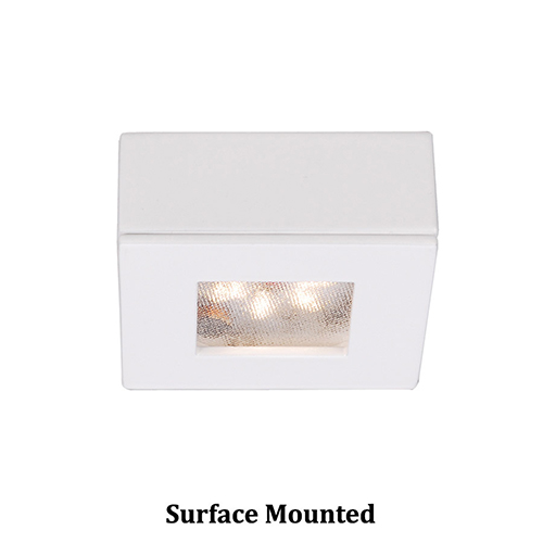 LEDme Square Button Lights White Under Cabinet Fixture