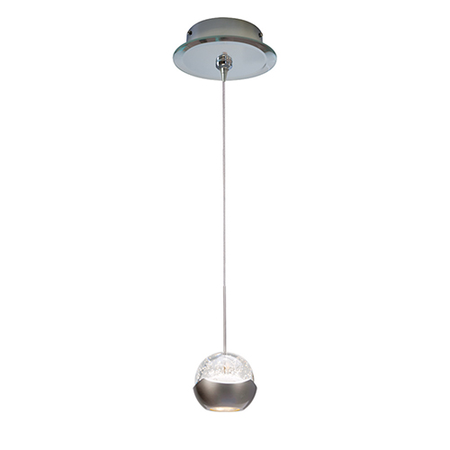 WAC Lighting Genesis One Light 6-Inch LED Mini Pendant with Mirrored Canopy