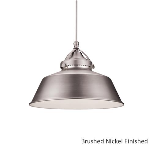 WAC Lighting Wyandotte Brushed Nickel One Light LED Mini Pendant