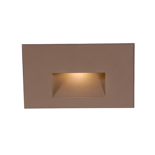 Bronze Step Rectangular Scoop LED Step Light