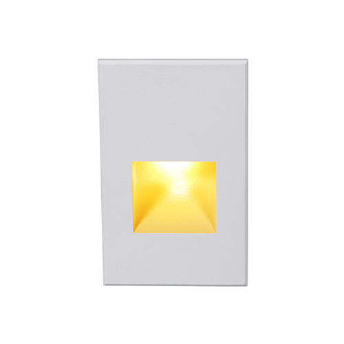 White Amber Lens Rectangle Scoop LED Wall and Step Light