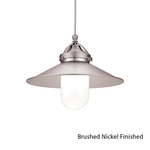 WAC Lighting Freeport Brushed Nickel LED Pendant with Canopy Mount Fixture