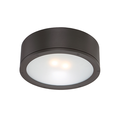 Tube Bronze One-Light LED Outdoor Flush Mount