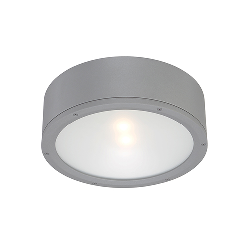 Tube Graphite One-Light LED Outdoor Flush Mount