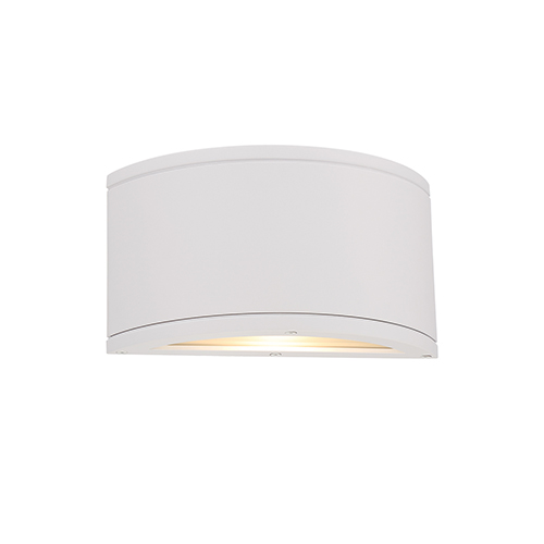 WAC Lighting Tube White One-Light LED Outdoor Wall Sconce
