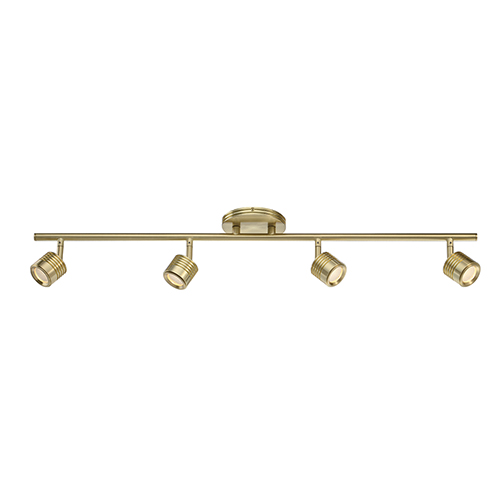 Vector Brushed Brass 4-Light LED Rail Kit