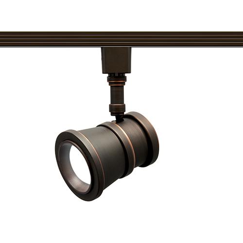 Summit Antique Bronze One-Light LED Line Voltage Traditional J-Track Head, 3000K