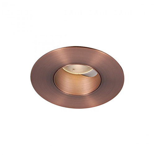 WAC Lighting Tesla Copper Bronze 2-Inch Pro LED 0-30 Degree Adjustable Trim with 27 Degree Beam, 3000K, 90 CRI