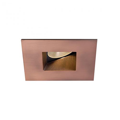 WAC Lighting Tesla Copper Bronze 2-Inch Pro LED Square 0-30 Degree Adjustable Trim with 45 Degree Beam, 3000K, 90 CRI