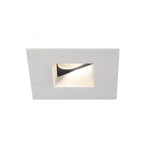 WAC Lighting Tesla White 2-Inch Pro LED Square 0-30 Degree Adjustable Trim with 45 Degree Beam, 3000K, 90 CRI