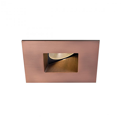 WAC Lighting Tesla Copper Bronze 2-Inch Pro LED Square 0-30 Degree Adjustable Trim with 30 Degree Beam, 3000K, 90 CRI