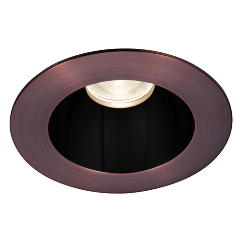 WAC Lighting Tesla Specular Black and Copper Bronze 3.5-Inch Pro LED Trim with 55 Degree Beam, 3500K