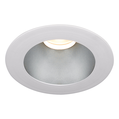 WAC Lighting Tesla Haze White 3.5-Inch Pro LED Trim with 55 Degree Beam, 4000K