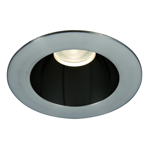 WAC Lighting Tesla Specular Black and Brushed Nickel 3.5-Inch Pro LED Trim with 55 Degree Beam, 2700K, 90 CRI