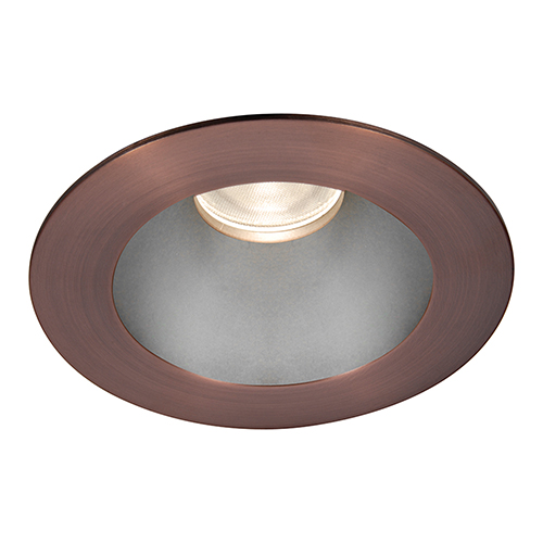WAC Lighting Tesla Haze Copper Bronze 3.5-Inch Pro LED Trim with 55 Degree Beam, 2700K, 90 CRI