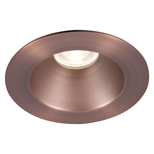 WAC Lighting Tesla Copper Bronze 3.5-Inch Pro LED Shower Light Trim with 30 Degree Beam, 3500K