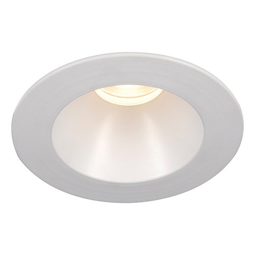 WAC Lighting Tesla White 3.5-Inch Pro LED Shower Light Trim with 30 Degree Beam, 3500K