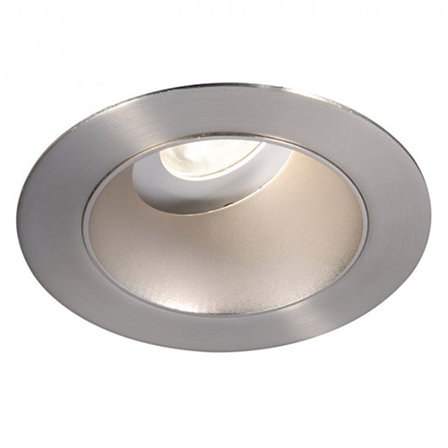 WAC Lighting Tesla Brushed Nickel 3.5-Inch Pro LED 0-30 Degree Adjustable Trim with 55 Degree Beam, 3500K