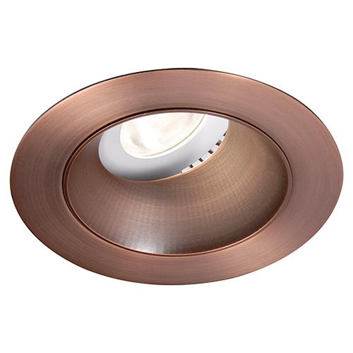 WAC Lighting Tesla Copper Bronze 3.5-Inch Pro LED 0-30 Degree Adjustable Trim with 55 Degree Beam, 4000K