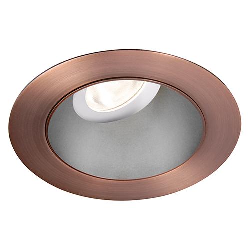 WAC Lighting Tesla Haze Copper Bronze 3.5-Inch Pro LED 0-30 Degree Adjustable Trim with 55 Degree Beam, 2700K, 90 CRI