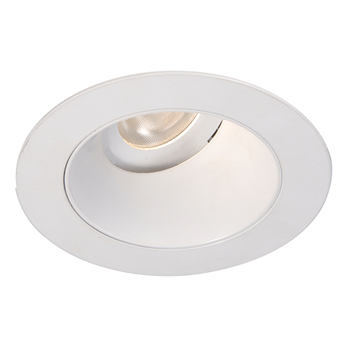 WAC Lighting Tesla White 3.5-Inch Pro LED 0-30 Degree Adjustable Trim with 55 Degree Beam, 2700K, 90 CRI