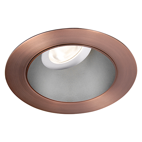 WAC Lighting Tesla Haze Copper Bronze 3.5-Inch Pro LED 0-30 Degree Adjustable Trim with 30 Degree Beam, 2700K