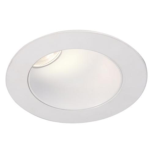 WAC Lighting Tesla White 3.5-Inch Pro LED 30-45 Degree Adjustable Trim with 38 Degree Beam, 3000K
