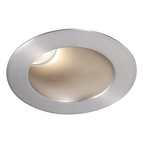 WAC Lighting Tesla Brushed Nickel 3.5-Inch Pro LED 30-45 Degree Adjustable Trim with 26 Degree Beam, 2700K, 90 CRI
