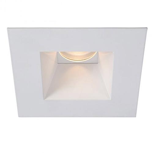 WAC Lighting Tesla White 3.5-Inch Pro LED Square Trim with 52 Degree Beam, 3500K
