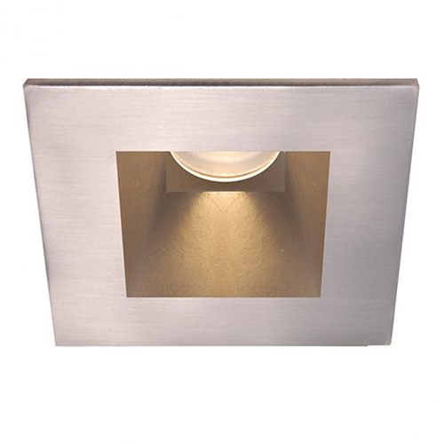 WAC Lighting Tesla Brushed Nickel 3.5-Inch Pro LED Square Trim with 30 Degree Beam, 2700K