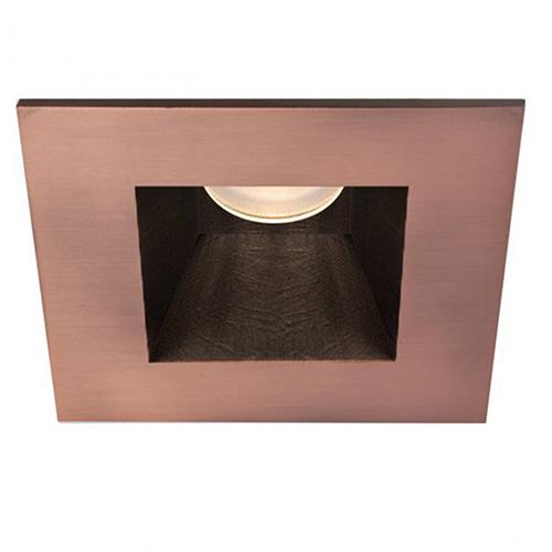 Tesla Copper Bronze 3.5-Inch Pro LED Square Trim with 30 Degree Beam, 2700K, 90 CRI