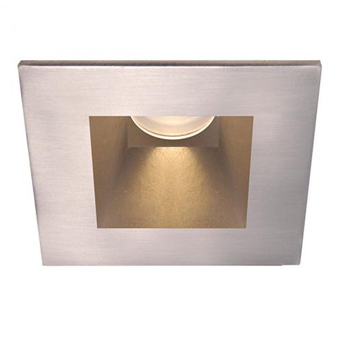 WAC Lighting Tesla Brushed Nickel 3.5-Inch Pro LED Square Shower Light Trim with 30 Degree Beam, 2700K
