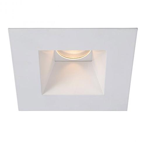 Tesla White 3.5-Inch Pro LED Square Shower Light Trim with 30 Degree Beam, 3000K, 90 CRI