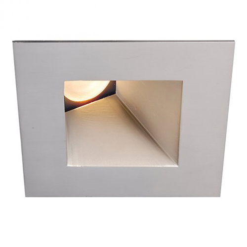 WAC Lighting Tesla Brushed Nickel 3.5-Inch Pro LED Square 30-45 Degree Adjustable Trim with 38 Degree Beam, 3000K