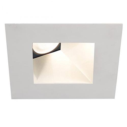 WAC Lighting Tesla White 3.5-Inch Pro LED Square 30-45 Degree Adjustable Trim with 38 Degree Beam, 2700K, 90 CRI