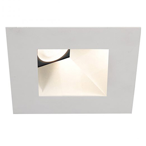 WAC Lighting Tesla White 3.5-Inch Pro LED Square 30-45 Degree Adjustable Trim with 26 Degree Beam, 2700K