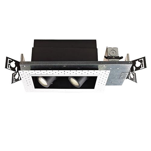 WAC Lighting Precision Multiples 1x2-Light LED Housing, Dimming Spot Beam, 2700K, 90 CRI