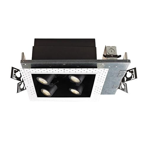 WAC Lighting Precision Multiples 2x2-Light LED Housing, Dimming Spot Beam, 2700K, 90 CRI