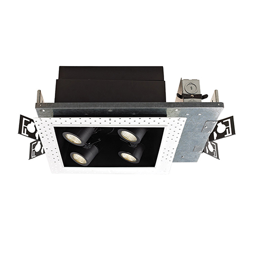 WAC Lighting Precision Multiples 2x2-Light LED Housing, Non Dimming Flood Beam, 2700K, 90 CRI
