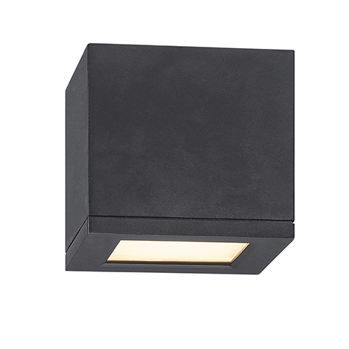 Rubix Black 5-Inch Energy Star LED Flush Mount with White Diffuser Glass