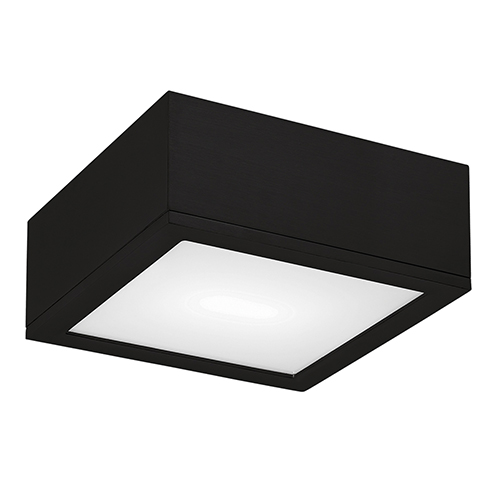 Rubix Black 10-Inch Energy Star LED Flush Mount with White Diffuser Glass