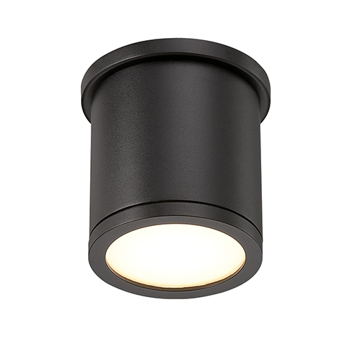 Tube Black 5-Inch Energy Star LED Flush Mount with White Diffuser Glass