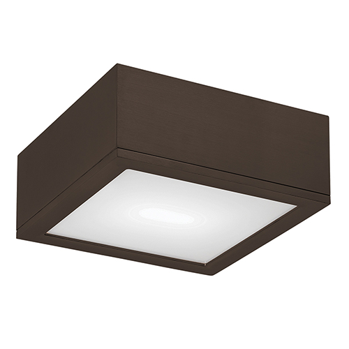 Rubix Bronze 10-Inch Energy Star LED Flush Mount with White Diffuser Glass