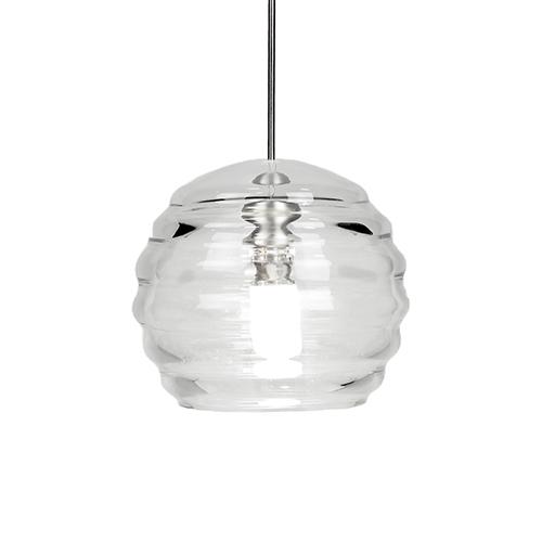 Clarity Brushed Nickel LED Mini Pendant